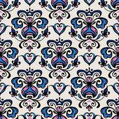 Damask Flourish motif vector pattern — Stock Vector