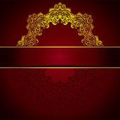 Golden luxury medallion vintage card vector — Stock Vector