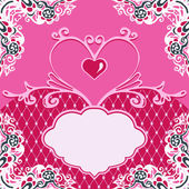 Valentines day frame vector background — Stock Vector