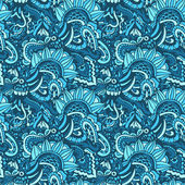 Seamless florish pattern vector doodle — Stock vektor