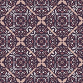 Geometric tiled vector seamless pattern — Stock Vector