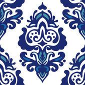 Luxury Damask flower seamless pattern vector — Stock Vector
