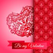Valentines Day Ornate Heart vector — Stock Vector