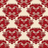 Luxury damask Floral seamless pattern vector — Stock Vector