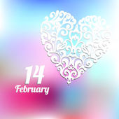 Valentines day february trendy  vector — Stock Vector