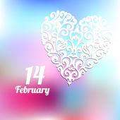 Валентина день февраля модный вектор — Cтоковый вектор