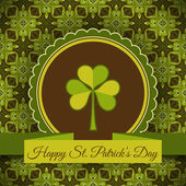 Patrick's day card vector — Vector de stock