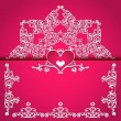 Valentines day frame vector background — Stock Vector #42188161