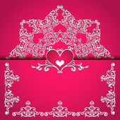 Valentines day  frame vector background — Vettoriale Stock