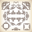Vintage vector typograhic frames and diviiders — Stock Vector