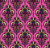 Damask colorful seamless vector pattern — Vettoriale Stock