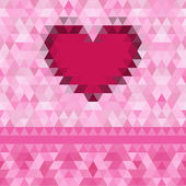 Heart love   frame vector background — Cтоковый вектор