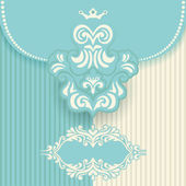 Vector vintage royal ornate background — Stock Vector