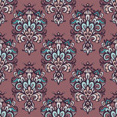 Vintage luxury damask seamless pattern — Vector de stock