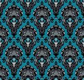 Sömlös damast vintage vektor mönster — Stockvektor