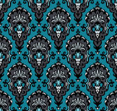 Seamless Damask vintage vector pattern — Stock Vector