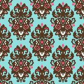 Damask vintage seamless vector pattern — Stock Vector