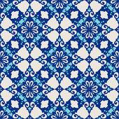 Damask seamless tiles vector design — ストックベクタ