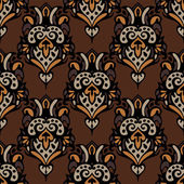 Vintage luxury damask seamless pattern — Stock Vector