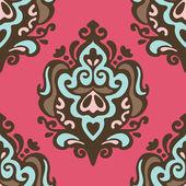 Pink Damask vector seamless pattern — Stock Vector
