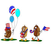 "Vector of""Fourth of July Hotdogs"" — Stock Vector"