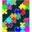 Stock Vector: color puzzle