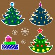 Set Of Christmas Trees — Stock Vector #32491393