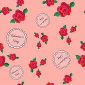 Teste padrão floral retrô — Vetorial Stock