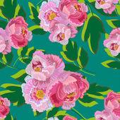 Seamless Bouquet Of Peonies — Stock Vector