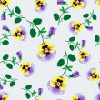 Stock Vector: Seamless Pansy