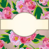 Flower With Frame Background — 图库矢量图片