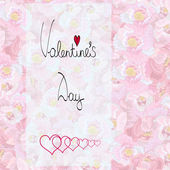 Valentines Day Floral Background — Stockvektor