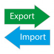 Export import — Stock Vector