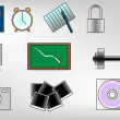 Vector de stock : Icons set