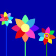 Vector colorful flowers — Stock Vector