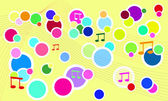 Vector fresh music background — Stock Vector