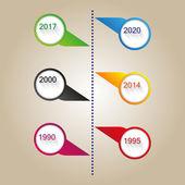 Vector color modern timeless template — Stock Vector