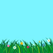 Flowery meadow background illustration — Stock Vector