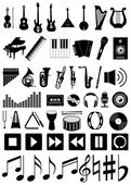 Set of 50 music icons — Stock Vector
