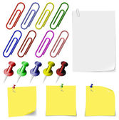 A set of stationery items. — ストックベクタ