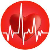 Heart and cardiogram. — Stock Vector