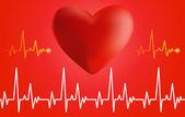 Cardiograma y corazón. — Vector de stock