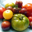 Stock Photo: Heirloom tomatoes from garden