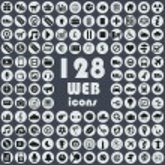 Постер, плакат: Big collection of web icons