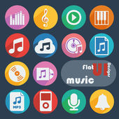 Icon set for Music — Stock Vector
