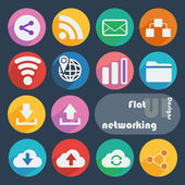 Icon set for Networking — ストックベクタ