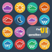 Icon set for Weather — Stock Vector