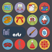 Icons set for Arts — Stock Vector