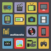 Icons for Multimedia. — Stock Vector