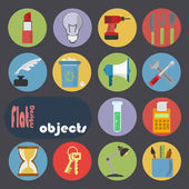 Icon set for Objects — Stock Vector
